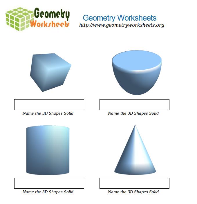 3d shape worksheets grade 4