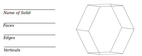 Geometry Worksheets for Describing Polyhedra