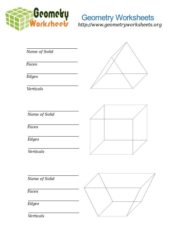 Geometry Worksheets for Describing Polyhedra 4 : Geometry ...