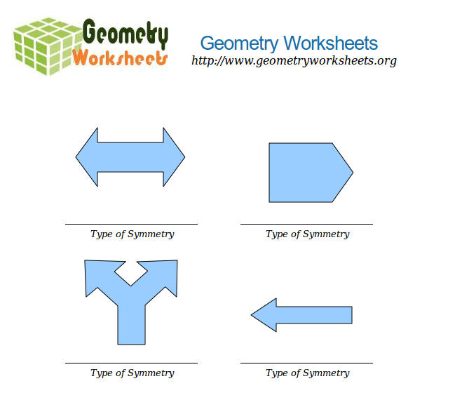 Math Worksheets - Types of Symmetry | Geometry Worksheets Org