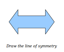 Geometry Worksheets for Drawing the Line of Symmetry
